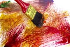 Abstrakte Acrylfarbe auf Weißbuch Stockbild