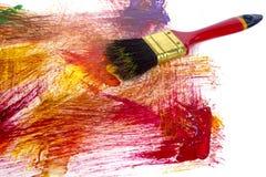 Abstrakte Acrylfarbe auf Weißbuch Stockfotografie