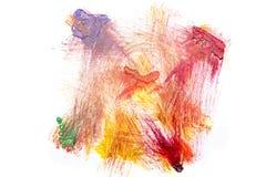 Abstrakte Acrylfarbe auf Weißbuch Lizenzfreies Stockbild