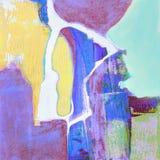 Abstrakte Acrylmalerei mit Farbfusion Stockfotos