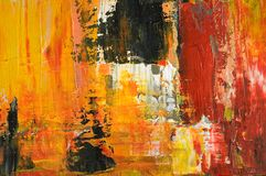 Abstrakte Acrylmalerei-Nahaufnahme Stockbild