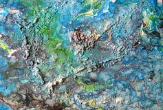 Abstrakte Acrylmalereiphantasieinseln Stockfotos