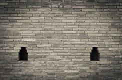 Abstrakte alte Schwarzweiss-Backsteinmauer Stockfotos