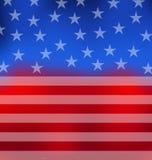 Abstrakte amerikanische Flagge für Juli 4. vektor abbildung