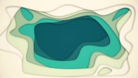 Abstrakte Animation ?berlagerte farbige L?cher animation Abstraktes vertiefendes Loch mit farbigen Schichten auf wei?em Hintergru lizenzfreie abbildung