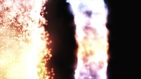 Abstrakte Animation des bunten glühenden Energieweges Lichtenergiering von verschiedenen Farben auf schwarzem Hintergrund strahlt stock video