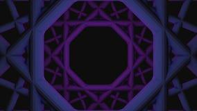 Abstrakte Animation des wirbelnden nahtlosen geometrischen Tunnels animation Geometrische kopierte wirbelnde Spirale auf Schwarze vektor abbildung