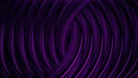 Abstrakte Animation des wirbelnden Stromes der Neonlinien auf schwarzem Hintergrund animation Digital-Hintergrund des unterschied vektor abbildung