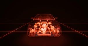 Abstrakte Animation eines Autos herein Lizenzfreie Stockbilder