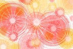 Abstrakte Anordnung für die farbigen Räder herein gelb und die rosa Schatten vektor abbildung