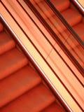 Abstrakte Ansicht der Rolltreppen Lizenzfreie Stockbilder
