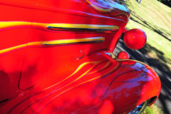 Abstrakte Ansicht der roten Flammen Lizenzfreie Stockfotos