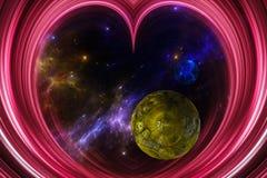 Abstrakte Ansicht des Universums Stockbild