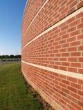 Abstrakte Ansicht des Ziegelsteingebäudes lizenzfreie stockfotos