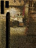 Abstrakte Ansicht in Speicher durch defektes Glas Lizenzfreies Stockbild