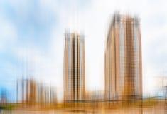 Abstrakte Ansicht von Hochhäusern lizenzfreie stockbilder