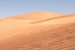 Abstrakte Ansicht von Sanddünen in der Wüste Lizenzfreie Stockbilder