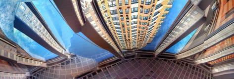Abstrakte Ansichten eines modernen Wohngebäudes Stockbild