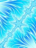 Abstrakte Aqua Blue White Christmas Tree-Niederlassung mit Schneeflocken Stockbilder