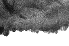 Abstrakte Aquarellbürstenanschläge der Farbe auf Weißbuch backgr Stockfotos