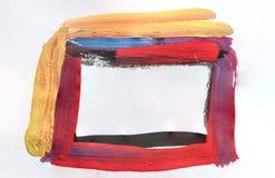 Abstrakte Aquarellfarbmalerei Stockbild