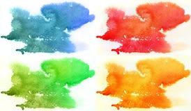 Abstrakte Aquarellhintergründe Stockbild