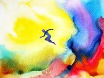 Abstrakte Aquarellmalereifarbbunte Hintergrund-Illustrationshand gezeichnet Lizenzfreies Stockfoto