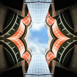 Abstrakte Architektur Biulding stockfotografie