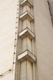 Abstrakte Architekturfragmentecke mit Wänden und Dekorationselement Stockbilder