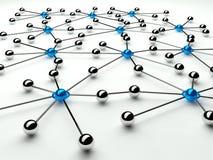 Abstrakte Auffassung des Netzes und der Kommunikation Stockfoto