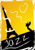Abstrakte Auslegung mit Saxophonisten Stockfoto
