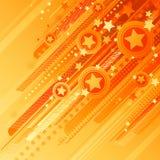 Abstrakte Auslegung mit Sternen. Lizenzfreies Stockfoto