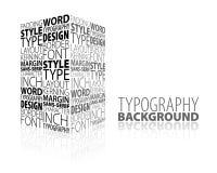 Abstrakte Auslegung und Typografiehintergrund Stockfotografie