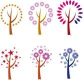 Abstrakte Bäume lizenzfreie abbildung