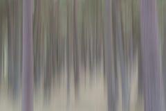 Abstrakte Bäume in der vertikalen Unschärfe Lizenzfreie Stockfotos
