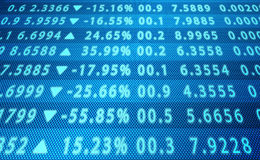 Abstrakte Börse-Daten Lizenzfreie Stockbilder