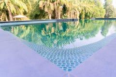 Abstrakte backgrouds, eine Ecke des blauen Swimmingpools Stockfotografie