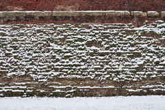 Abstrakte Backsteinmauer stockfoto