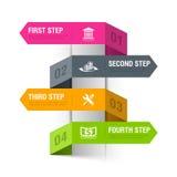 Abstrakte Bankthema infographics Schablone Lizenzfreies Stockfoto
