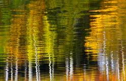 Abstrakte Baum-Wasser-Reflexion Stockfoto