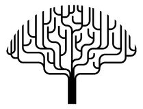 Abstrakte Baumschattenbildabbildung Lizenzfreie Stockfotos
