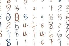 Abstrakte Begriffshandgezogene Zahlen Symbol, Text, kreatives u. Hintergrund vektor abbildung