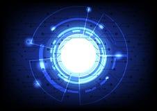 Abstrakte Bereichform des globalen Netzwerks für den zukünftigen Hintergrund Lizenzfreie Stockfotografie