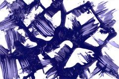 Abstrakte Beschaffenheit Anschläge der blauen Tinte lizenzfreie stockfotos
