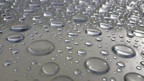Abstrakte Beschaffenheit des Wassertropfens auf dem Tisch nach Regen Lizenzfreies Stockbild