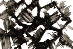 Abstrakte Beschaffenheit Schwarze Tintenanschläge lizenzfreies stockbild