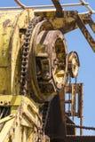 Abstrakte Beschaffenheiten und Formen: Altern-Metallmaschinerie Stockfoto