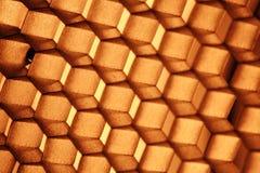 Abstrakte Beschaffenheitsbienenwabe Stockfoto