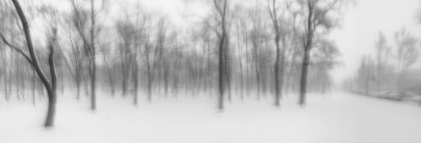 Abstrakte bewegliche Fotografie des Schneesturms Stockfotografie