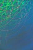 Abstrakte bewegliche helle Muster, die helle Ströme vom langen exosure swilring sind Lizenzfreie Stockfotografie